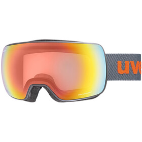 UVEX Compact V Goggles, anthracite mat/vario rainbow mirror